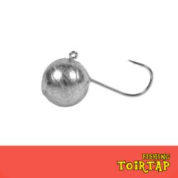 «Микроджиг белый крючок (шар/овал)»